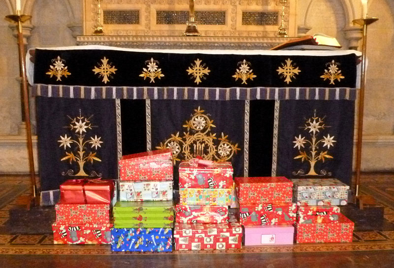 Christmas boxes for Children.